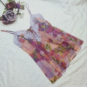 Frederick's of Hollywood Beautiful Floral Nightie